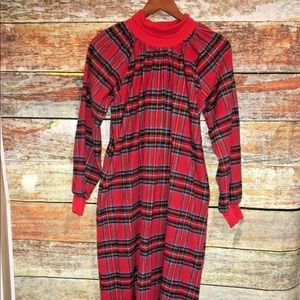 Vermont Country Store Plaid Flannel Nightgown Sz M